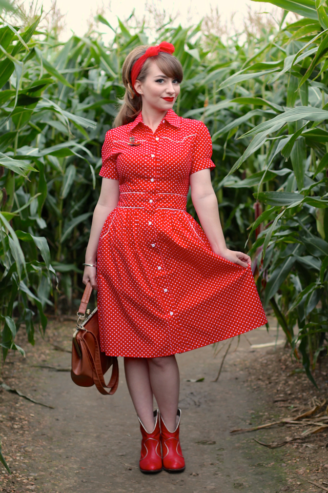 Here is Carly in our  Rockabilly Gal dress , named after the song by Hayden Thompson and Roy Orbison!