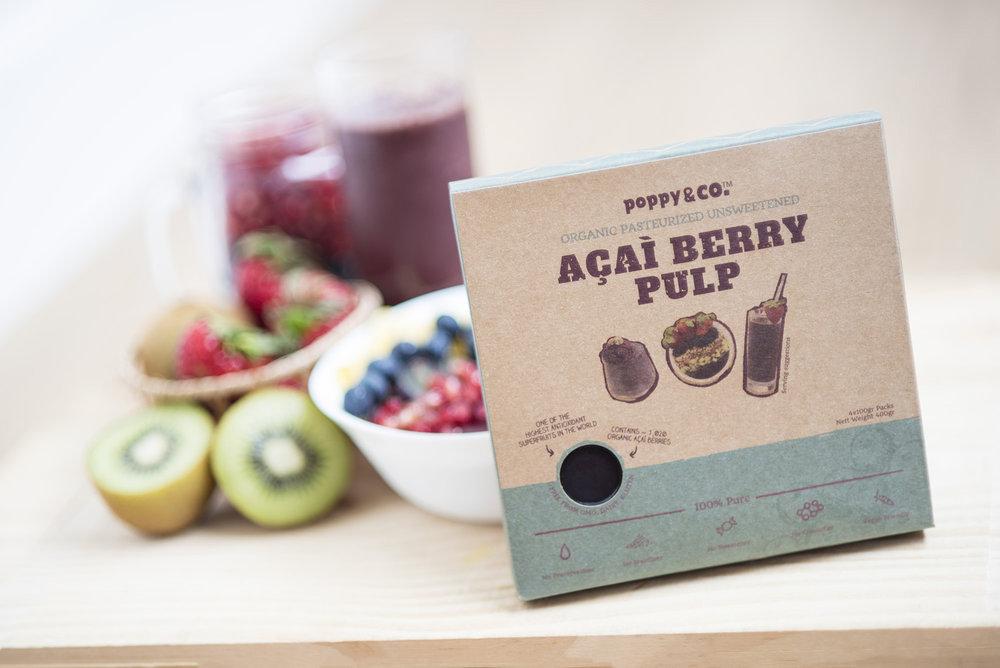 Organic Pasteurised Frozen Acai Berry Pulp