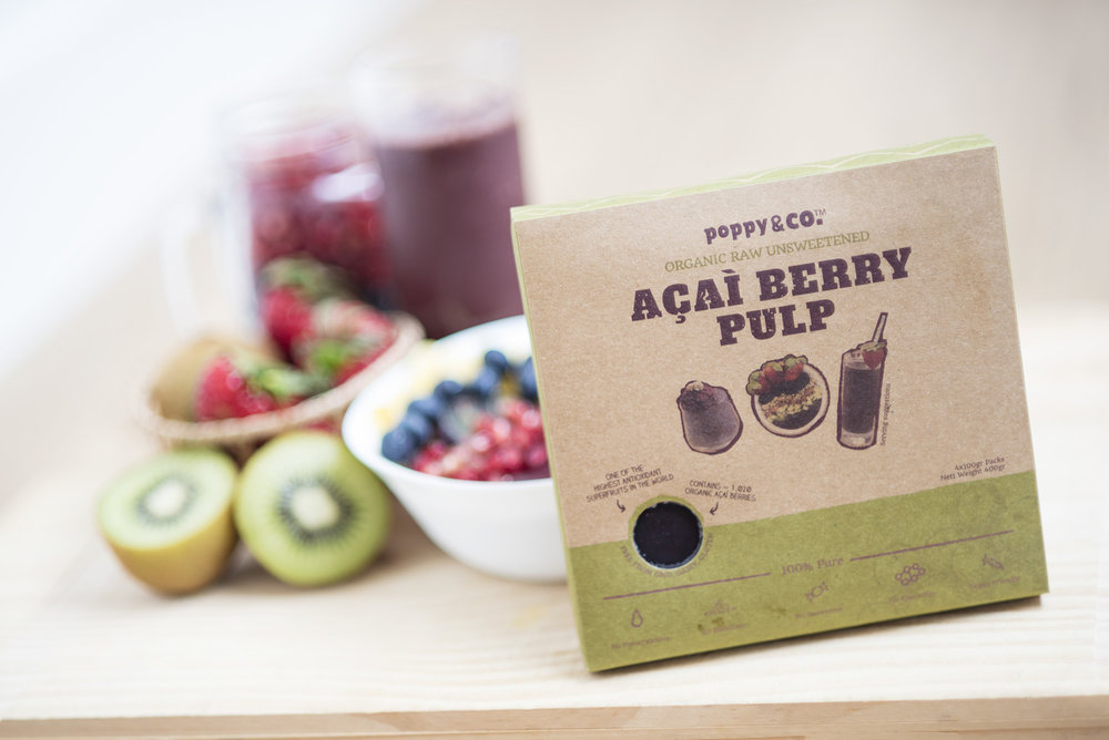 Organic Raw Frozen Acai Berry Pulp
