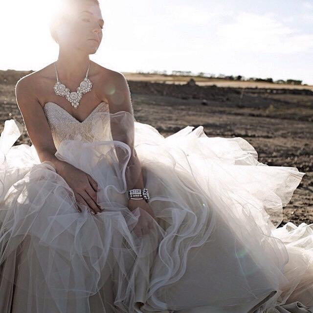 Wedding Gown: Alvina Valenta   .   Jewellery: Haute Bride   .  Photography: Fuller Edge Studio