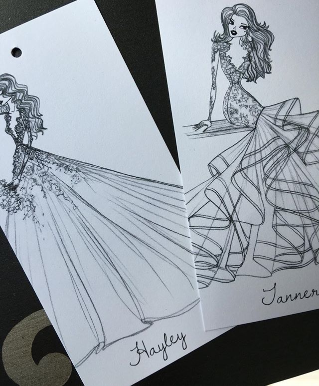 New tags & @misshayleypaige sketches? Do you know what this means brides?! New dresses arrived today! 💜💜💜 @jlm_couture #Hayley #Tanner #hayleypaige #jlmcouture #bride #wedding #beautiful #exciting #new #calgary #nyc #yyc #weddinggdress #sketch #art #babes #instagood #igers #spring #sprig2016 #blackandwhite #staytuned #details