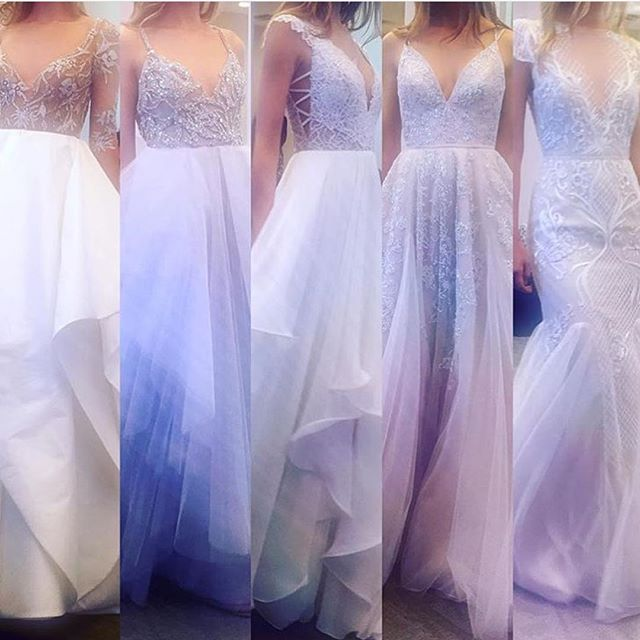 Which of these @misshayleypaige gowns do you love most from the collection she unveiled last week?! We can taste the rainbow; we can feel the rainbow! ❤️💛💚💙💜💗 @jlm_couture #hayleypaige #jlmcouture #new #fall2016 #bride #wedding #style #fashion #weddinggown #weddingdress #details #inspiration #instagood #instamood #nyc #calgary #newyorkcity #yyc #yeg #jimhjelm #blush #rainbow #igers  #alberta #engaged #calgarybride #tbt #misshayleypaige #bling #sparkle