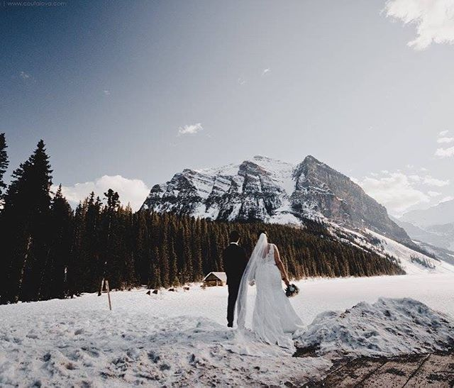 Stunning sneak peak of @europeanelegance romantic Lake Louise wedding! She wore @missstellayork and absolutely stunned💗💗 #stellayork #love #bride #beautiful #Calgary #yyc #yeg #lakelouise #igers #banff #rockymountains #beautiful #wow #wedding #sayyestothedress #photography #breathtaking #perfect #canada #winter #mountains #nature #evergreens #groom #engaged