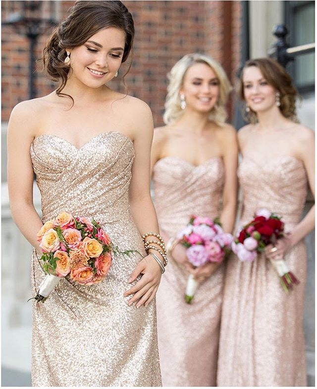 We can't wait to get this new strapless matte metallic bridesmaids gown in! We ❤️ Sorella Vita. #sorellavita #stellayork #style #bridesmaids #wedding #bride #engaged #like #follow #pretty #style #fashion #yyc #yeg #calgary #gold #rosegold #instagood #rosequartz #floral #sparkle #love #dress #bridesmaidsdress #hair #makeup