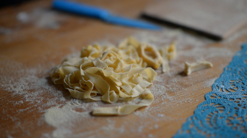 fresh pasta with sage butter