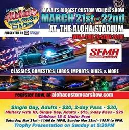 Come check out our booth at the Aloha Custom Car Show.  Stay tuned for show promo.