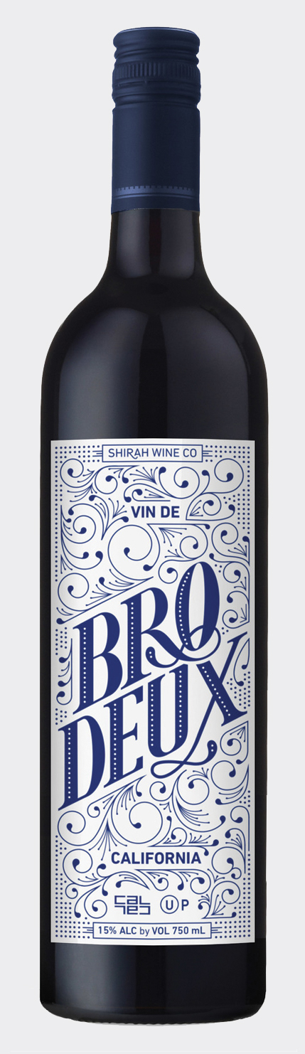 Bro.Deux Wine Label Design →