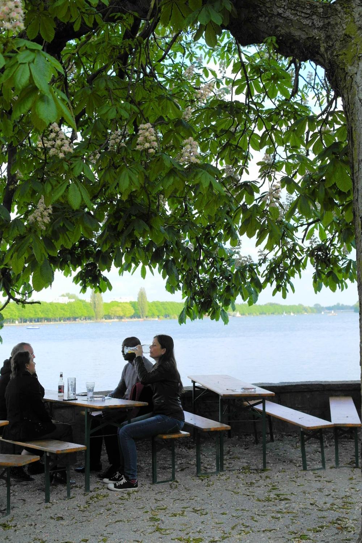 Hannover, Germany Beer Garden