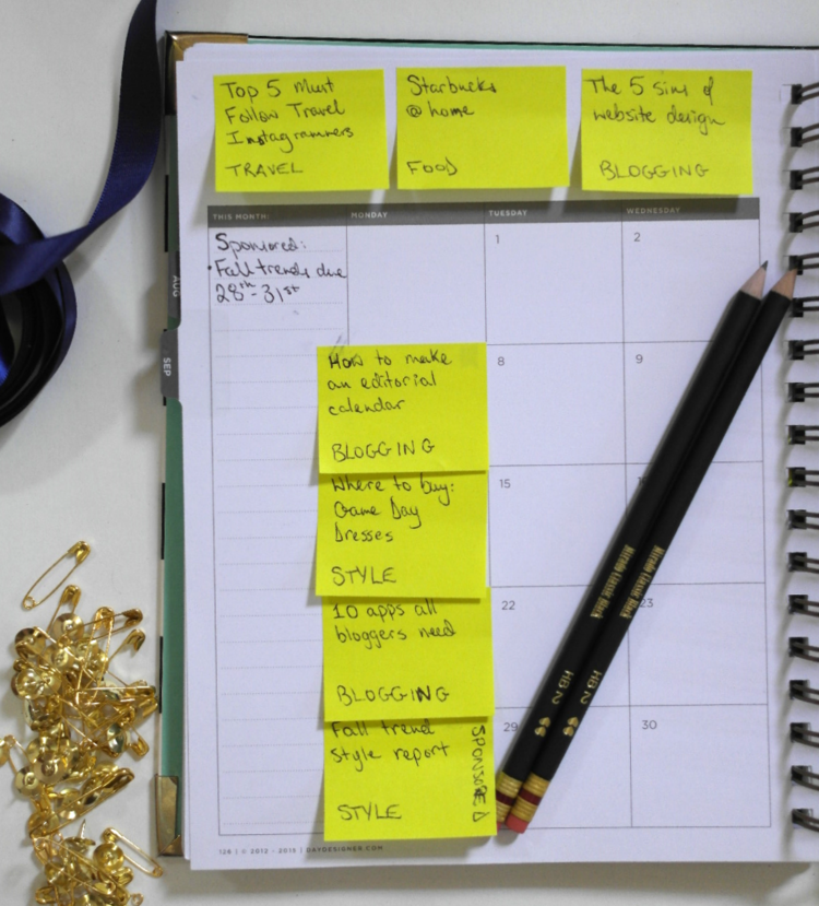 How To Make An Editorial Calendar For Your Blog