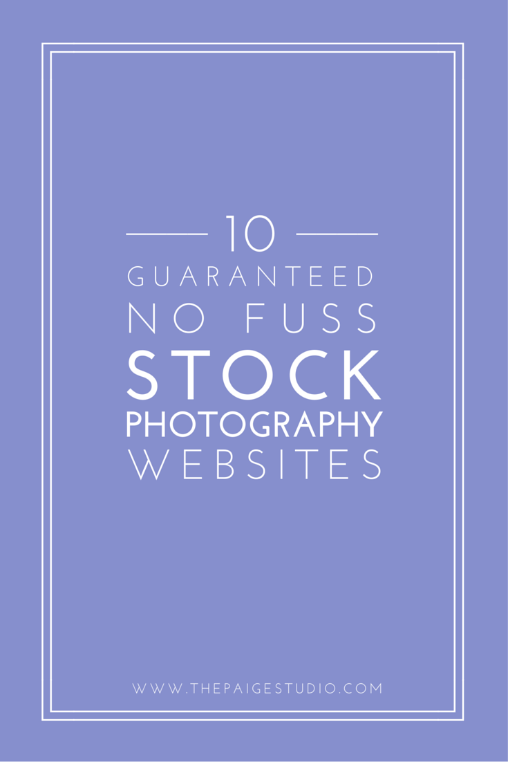 Must Pin: Copyright Free Stock Photography Sites