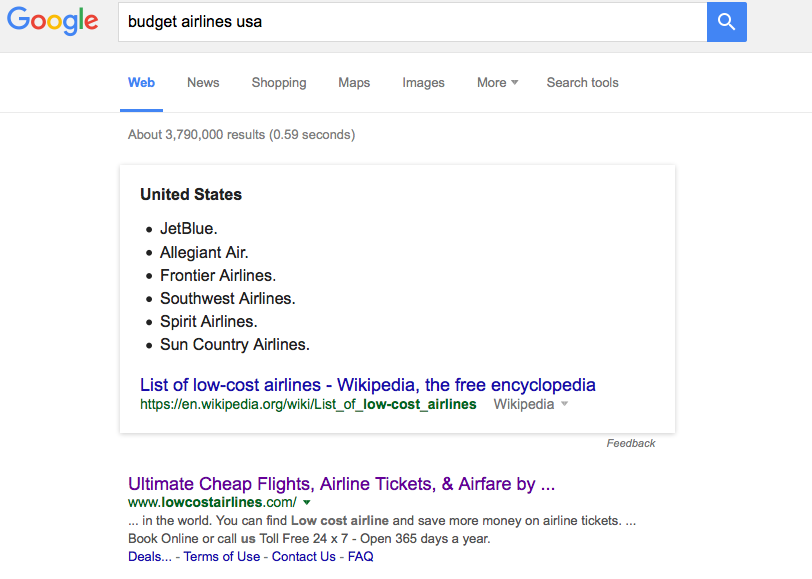 Budget Airline Searching