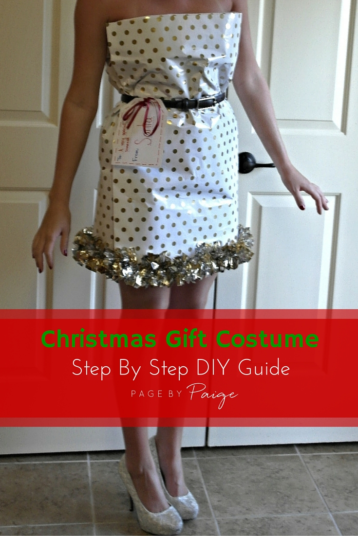 How To Make A Christmas Wrapping Paper Dress