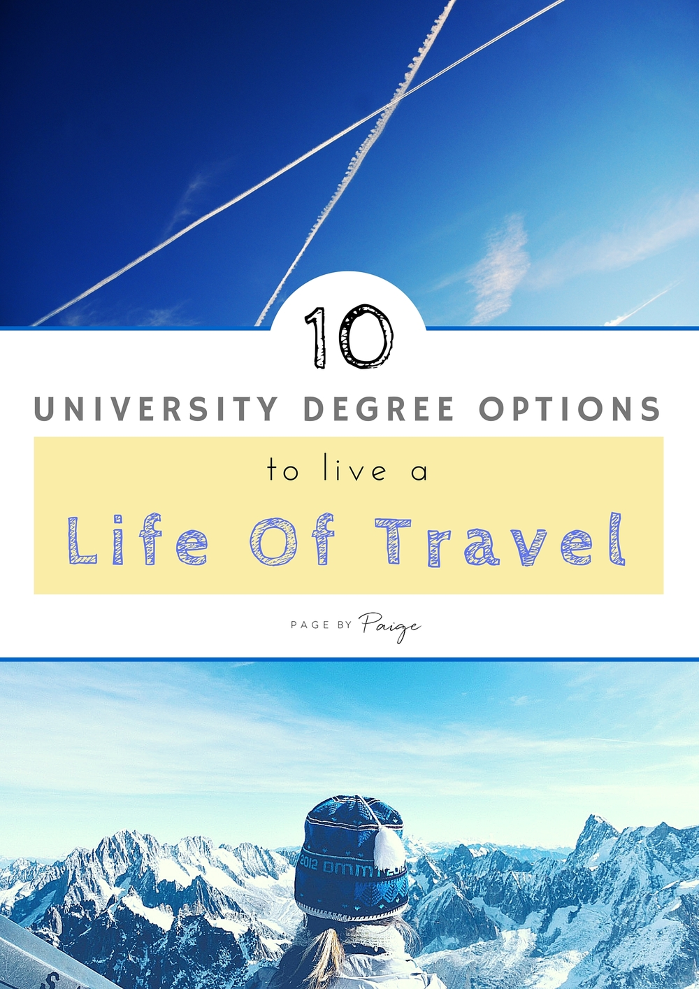 What to take in school to live a life of travel