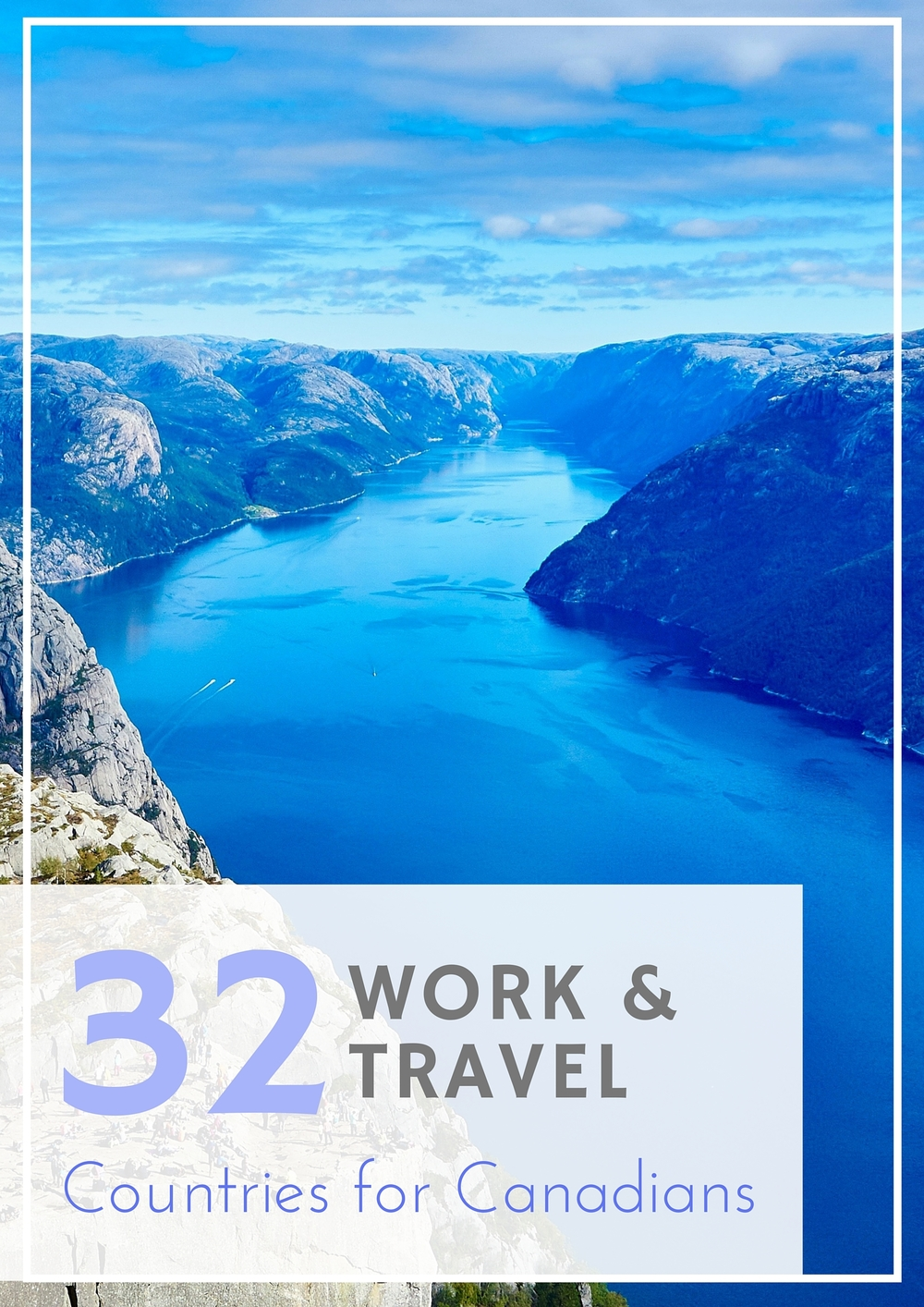 Which of these 32 countries around the world would you choose to work and travel in?