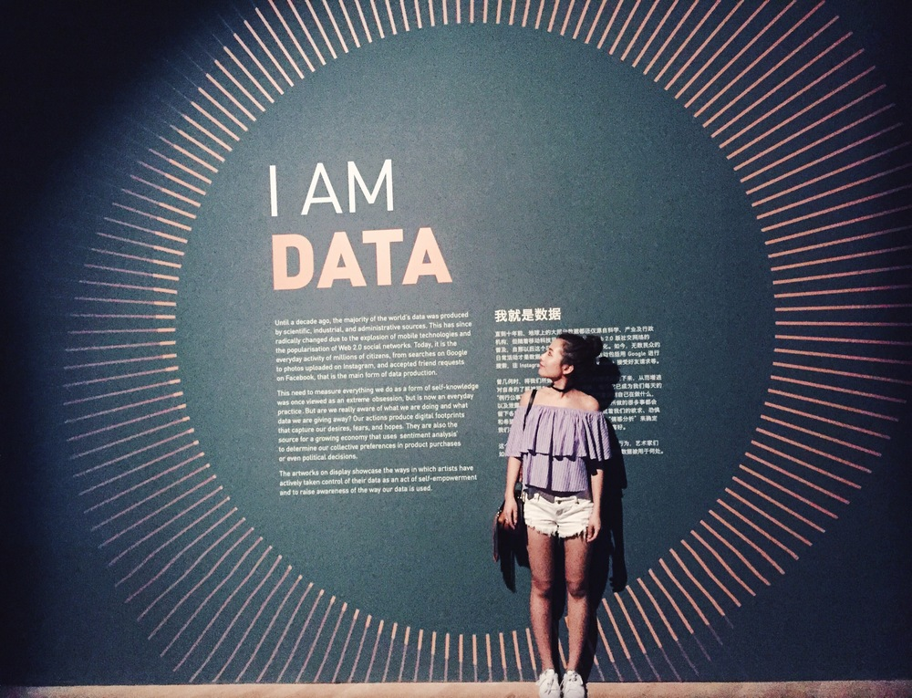 2016 summer at Singapore ArtScience Museum - Big Bang Data exhibition.