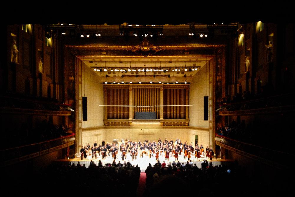 2016 NEC philharmonic in Boston Symphony Hall