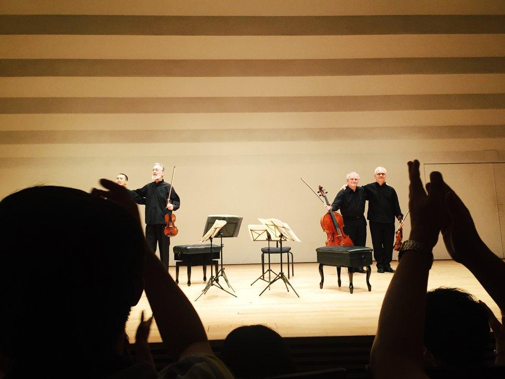 (Juilliard Quartet 2016年夏天至台北松菸音樂廳的演出,全場觀眾無一不感動流淚)