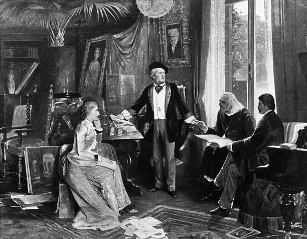 1882年畫作中華格納夫妻與李斯特,以及Hans von Wolzogen使用的便是貝西斯坦鋼琴。