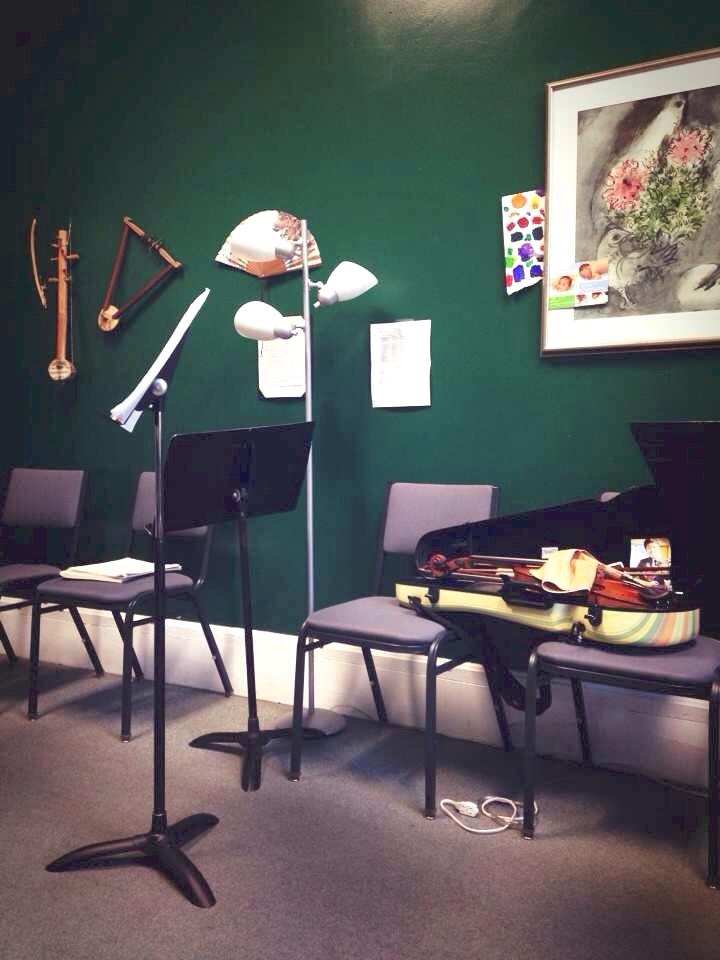 my quintet in Martha's studio after concert in 2015.