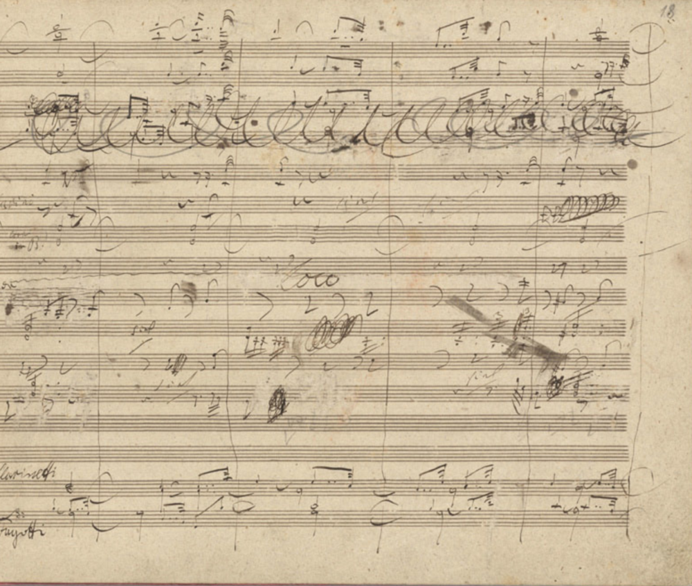 Beethoven The 9th Symphony Autograph Manuscript