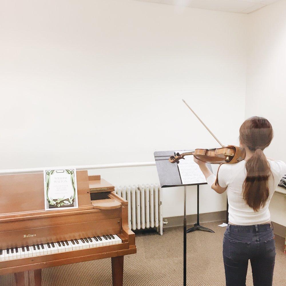NEC practice room