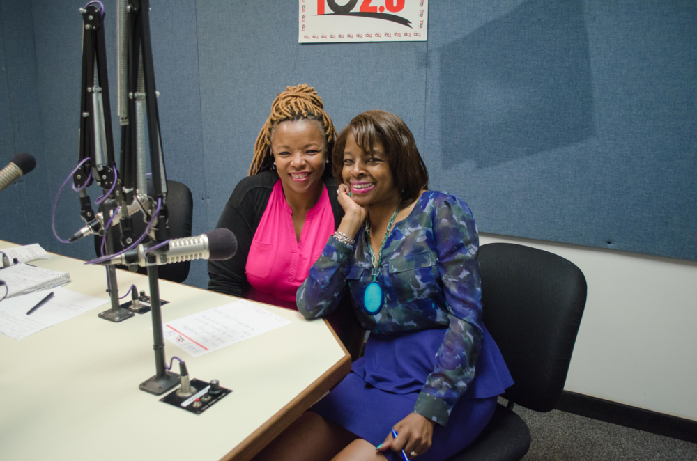 Darryl King and I at 102.3FM