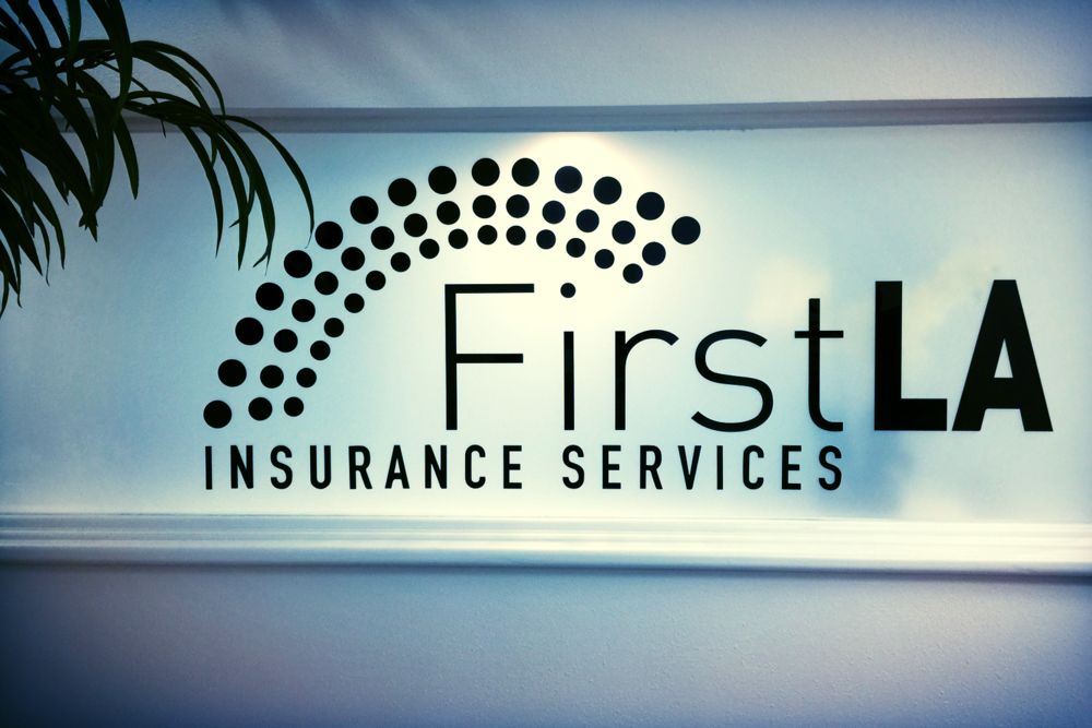 FirstLAInsuranceServices_WoodlandHills_LobbySign_PremiumSignSolutions