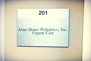 AfterHoursPediatricsEncino_MetalDoorPlaque_PremiumSignSolutions