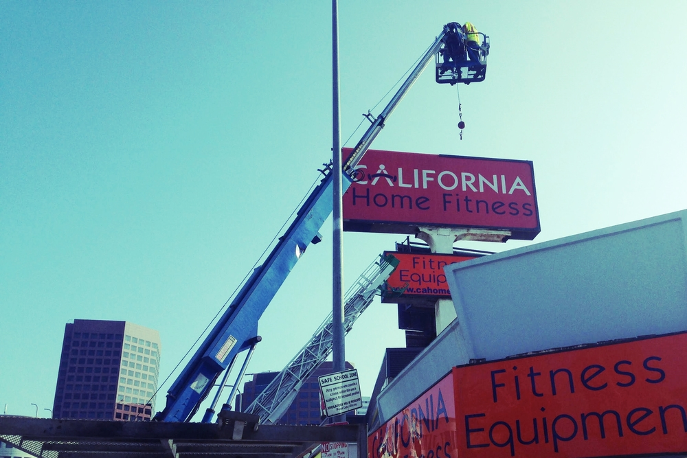 CaliforniaHomeFitness_PylonSign_StreetSign_BusinessSign_SignRepair_PremiumSignSolutions_WestLA