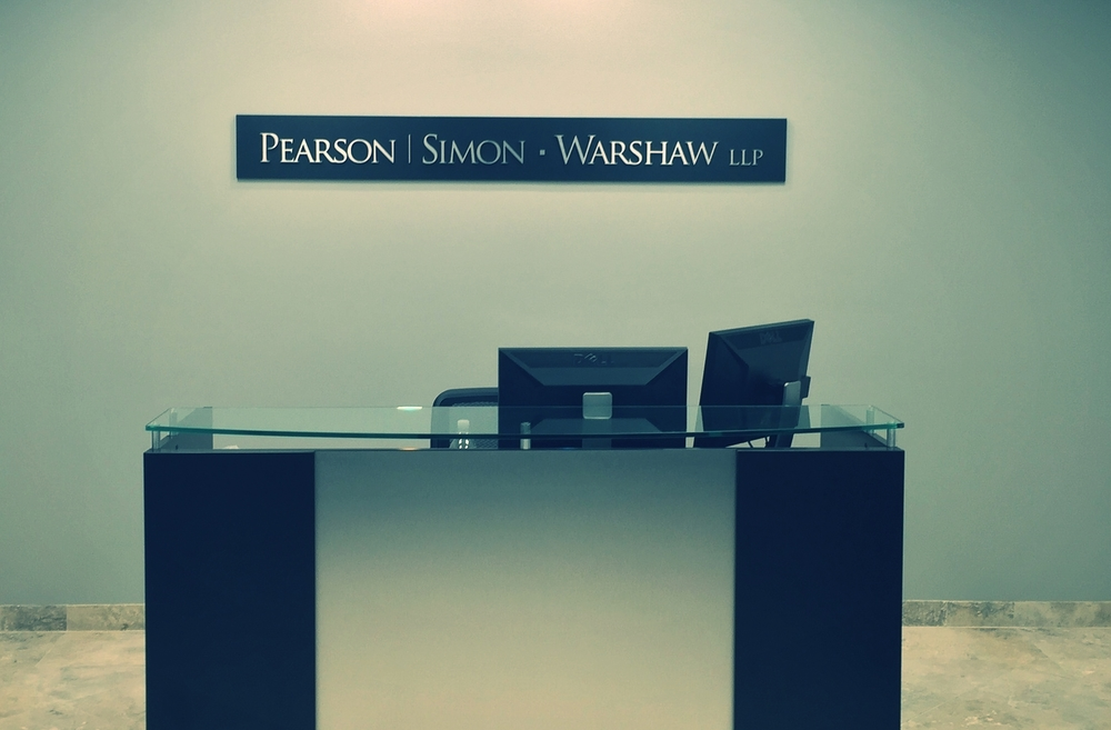 LobbySign_BusinessSign_BrushedMetalSign_PearsonSimonWarshaw_ShermanOaks_PremiumSignSolutions