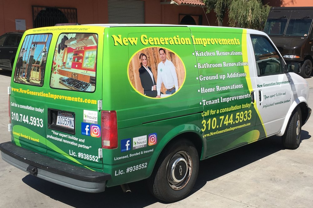 VehicleGraphics_NewGenerationHomeImprovements_Encino_PremiumSignSolutions