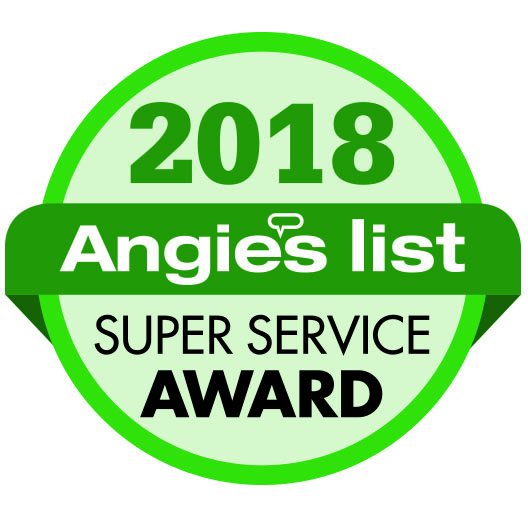 """We earned the 2018 Super Service Award from Angie's List. The Award reflects consistent high levels of customer service. Check our reviews at AngiesList.com."""