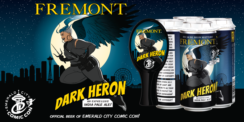 Dark Heron official beer of Emerald City Comic Con