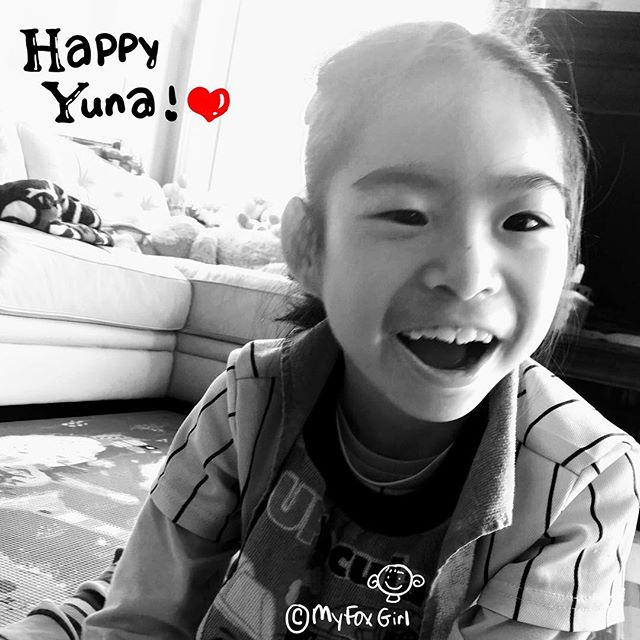 Happy Yuna, this morning! We love Yuna's smile. #MyFoxGirl
