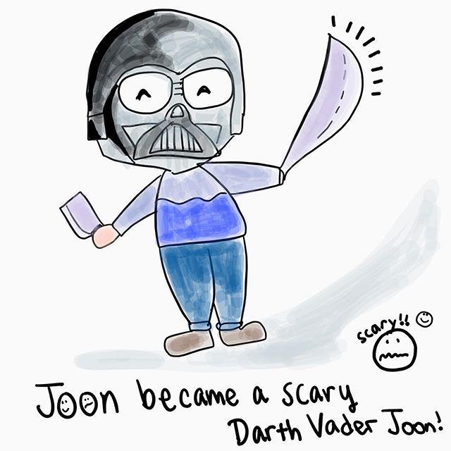Darth Vader Joon! Scary 🙈😆#MyFoxGirl #SpringBreakJournal
