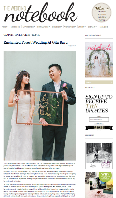 THE WEDDING NOTEBOOK - GITA BAYU