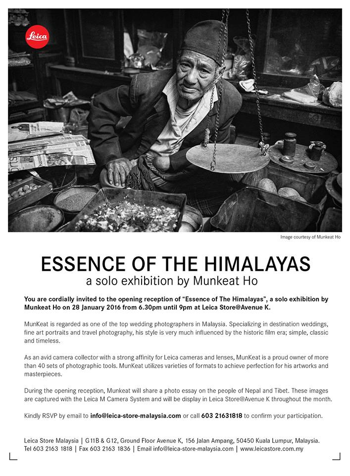 LEICA EXHIBITION - THE ESSENCE OF THE HIMALAYAS by munkeat