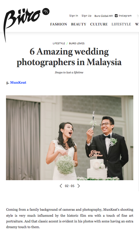 Buro247.MY - 6 Amazing Wedding Photographer in Malaysia