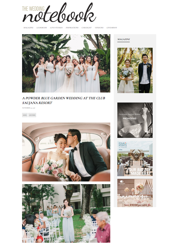 A Power Blue Garden Wedding At the Club Saujana Resort - The Wedding Notebook
