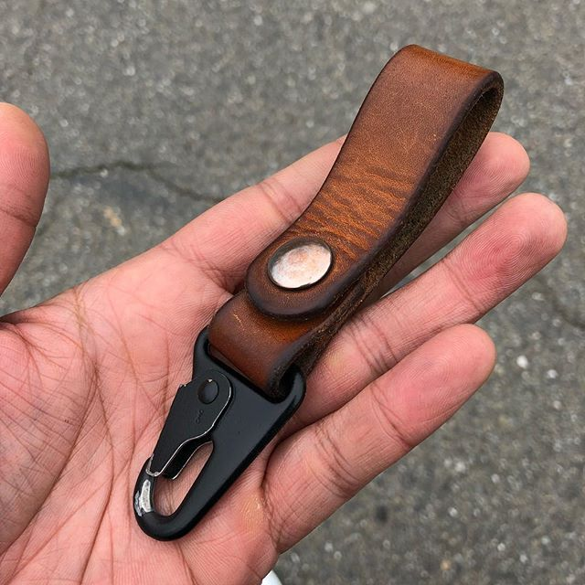 Well worn veg tan clip after a little over year of use.