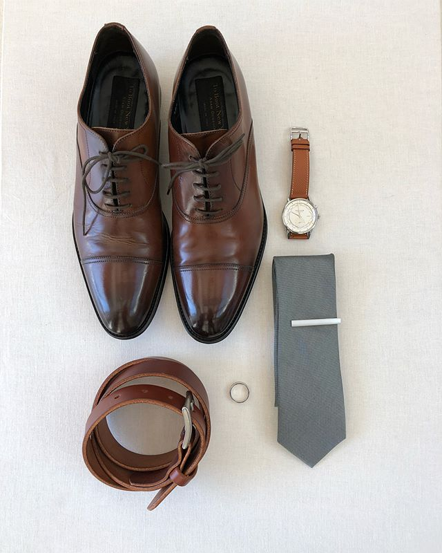 One of my best friends @nicknguyen024 got married last weekend and had the honor of making belts for him and the 8 groomsmen.  Here's a #flatlay of his wedding day accessories.