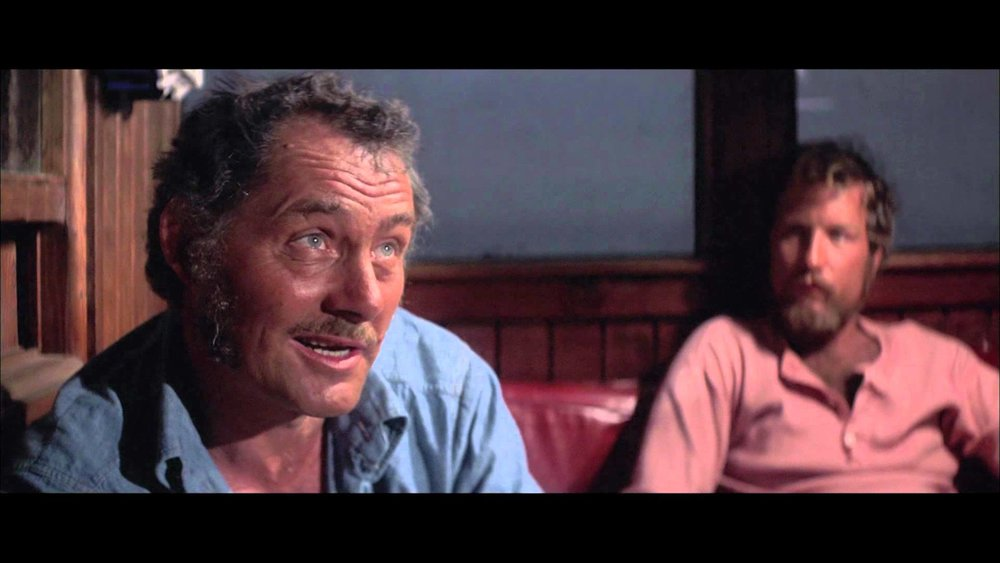 Robert Shaw as Quint with Richard Dreyfuss as Matt Hooper
