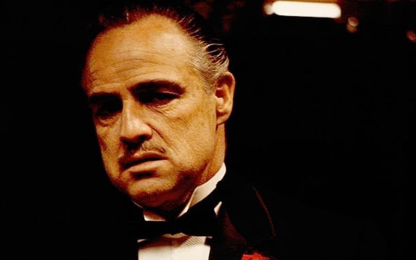 Academy Award winner Marlon Brando as Don Vito Corleone