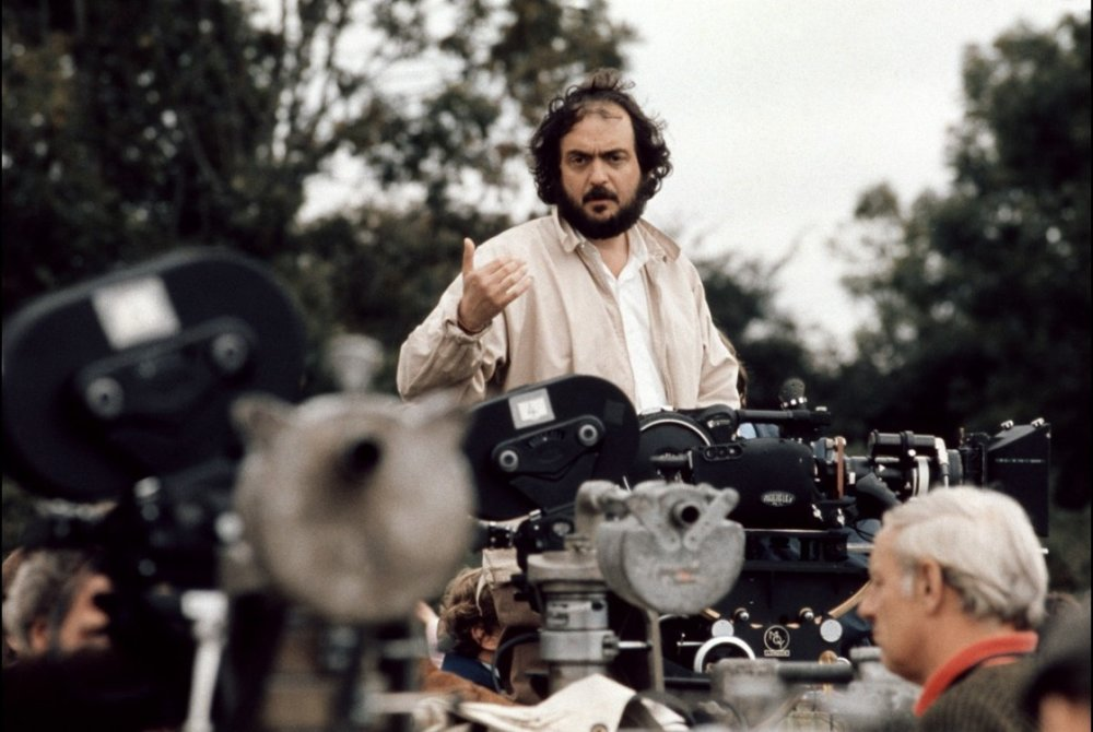 Stanley Kubrick with his toys