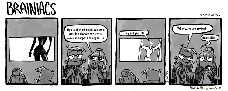 The first Ofvitar comic about Charles and I's experience watching Captain America: Winter Soldier.