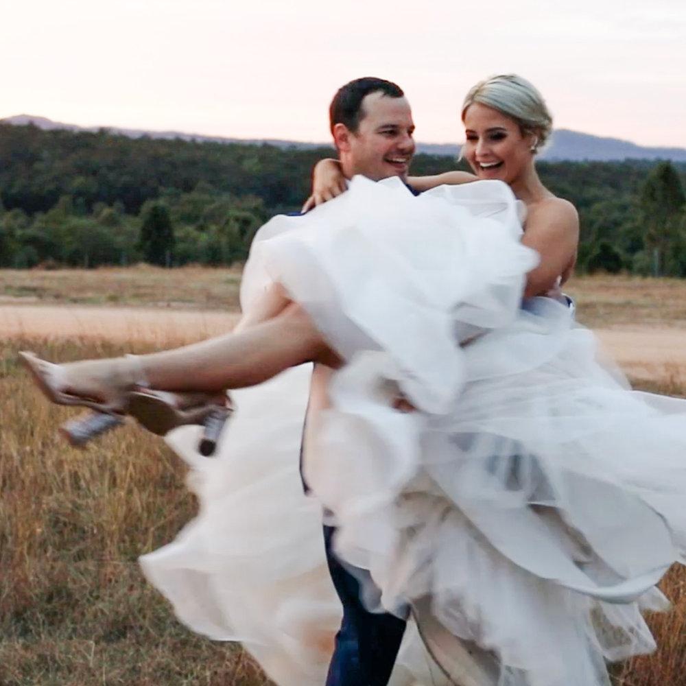 A still from a Lovelane Films wedding video