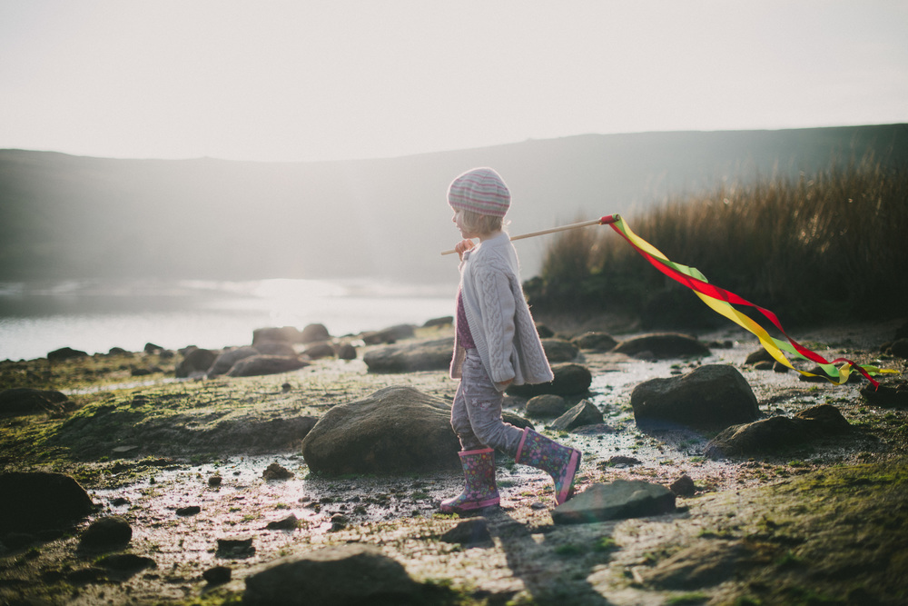 Little girl by the water - Yorkshire portrait photography