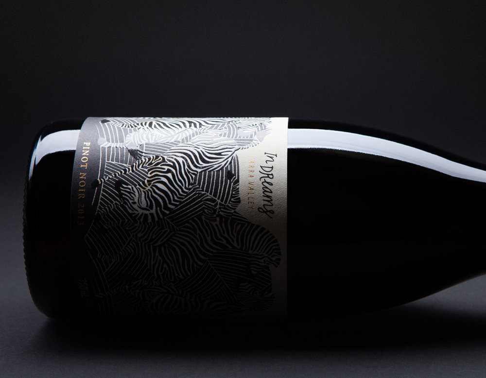 In Dreams is a new wine conceived in the wonderful wine region that is the Yarra Valley, Victoria. Inspired by a transcendent dream, hand-drawn illustrations are accentuated with high-end print production to create a tactile, interactive label.