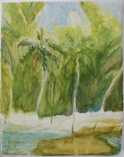 Hector Arce Espasas  Beach painting after Pelican , 2008 Acrylic on canvas 35,5 x 28 cm Courtesy the artist