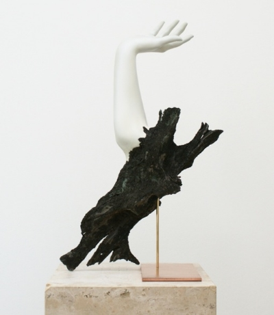 Rein Vollenga Untitled, 2010 Acrylic, wood, brass, copper, soil, paint 61 x 31 x 21.5 cm